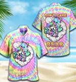 Weed Tiedye Bear All Over Printed Hawaiian Shirt Size S - 5XL