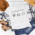 I'm a simple woman weed coffee music Graphic Unisex T Shirt, Sweatshirt, Hoodie Size S - 5XL