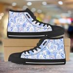 Mushroom Pattern Unisex High Top Canvas Shoes