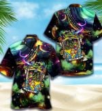 Psychedelic Alien Universe All Over Printed Hawaiian Shirt Size S - 5XL