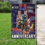 911 firefighter never forget 20th anniversary Garden Flag, House Flag