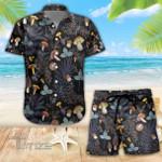 Mushroom Psychedelic Pattern Combo Summer Hawaiian Shirt and Shorts