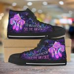Mushroom Psychedelic Unisex High Top Canvas Shoes