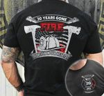 911 firefighter 20 years gone fire forever in our hearts Graphic Unisex T Shirt, Sweatshirt, Hoodie Size S - 5XL
