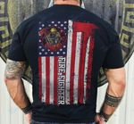 Firefighter american flag vintage Graphic Unisex T Shirt, Sweatshirt, Hoodie Size S - 5XL