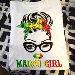 Weed girl i am who i am march Graphic Unisex T Shirt, Sweatshirt, Hoodie Size S - 5XL