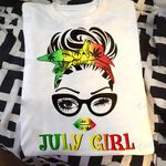 Weed girl i am who i am july Graphic Unisex T Shirt, Sweatshirt, Hoodie Size S - 5XL