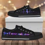 Suicide heartbeat you'll never walk alone Low Top Canvas Shoes