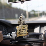 Skull get in sit down shut up hang on Car Ornament