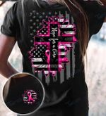 Breast Cancer Awareness Sunflower  Hope For Cure Two Sided Graphic Unisex T Shirt, Sweatshirt, Hoodie Size S - 5XL