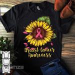 Breast Cancer Awareness Sunflower  Graphic Unisex T Shirt, Sweatshirt, Hoodie Size S - 5XL