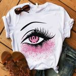Breast Cancer Awareness Eyes Graphic Unisex T Shirt, Sweatshirt, Hoodie Size S - 5XL