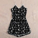 Halloween Witch Skull Cat Rompers For Women