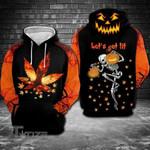 Halloween pumpkin horror weed  3D All Over Printed Shirt, Sweatshirt, Hoodie, Bomber Jacket Size S - 5XL
