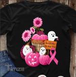 Breast Cancer Awareness Boo Halloween In October We Wear Pink Graphic Unisex T Shirt, Sweatshirt, Hoodie Size S - 5XL