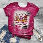 Breast cancer halloween in october we wear pink 3D All Over Printed Shirt, Sweatshirt, Hoodie, Bomber Jacket Size S - 5XL