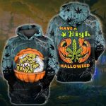 Weed Pumpkin High Halloween 3D All Over Printed Shirt, Sweatshirt, Hoodie, Bomber Jacket Size S - 5XL