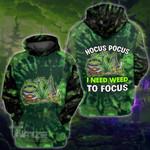 Weed halloween hocus pocus 3D All Over Printed Shirt, Sweatshirt, Hoodie, Bomber Jacket Size S - 5XL