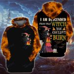 I am descended from that witch halloween 3D All Over Printed Shirt, Sweatshirt, Hoodie, Bomber Jacket Size S - 5XL