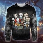 Halloween i just want to cuddle and watch horror movie 3D All Over Printed Shirt, Sweatshirt, Hoodie, Bomber Jacket Size S - 5XL
