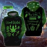 Weed witch halloween this vibe brought to you bu witcheraft custom name 3D All Over Printed Shirt, Sweatshirt, Hoodie, Bomber Jacket Size S - 5XL