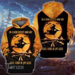Witch halloween on a dark desert high way 3D All Over Printed Shirt, Sweatshirt, Hoodie, Bomber Jacket Size S - 5XL