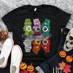 Weed leaf halloween bear up and down Graphic Unisex T Shirt, Sweatshirt, Hoodie Size S - 5XL