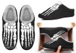Skull skeleton horror halloween Kate Indoor Slippers