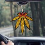 Weed christmas mistlestoned Car Ornament