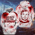 Halloween Jeffrey Dahmer Serial Killer I Eat Guys Like You For Breakfast 3D All Over Printed Shirt, Sweatshirt, Hoodie, Bomber Jacket Size S - 5XL
