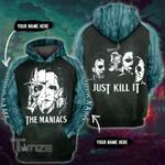 Halloween horror movie just kill it custom name 3D All Over Printed Shirt, Sweatshirt, Hoodie, Bomber Jacket Size S - 5XL