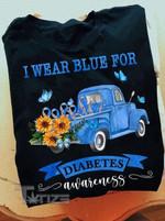 Diabetes Awareness I Wear Blue For Diabetes Awareness Graphic Unisex T Shirt, Sweatshirt, Hoodie Size S - 5XL