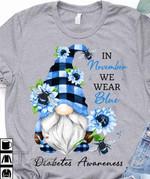 Diabetes Awareness In November We Wear Blue Graphic Unisex T Shirt, Sweatshirt, Hoodie Size S - 5XL