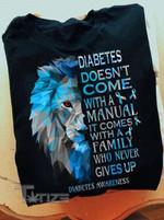 Diabetes Awareness Never Give Up Lion Graphic Unisex T Shirt, Sweatshirt, Hoodie Size S - 5XL