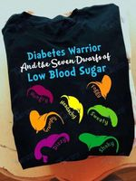 Diabetes Awareness Diabetes Warrior And The Seven Dwarfs Of Low Blood Sugar Graphic Unisex T Shirt, Sweatshirt, Hoodie Size S - 5XL