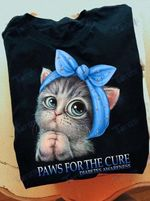 Diabetes Awareness Paws For The Cure Graphic Unisex T Shirt, Sweatshirt, Hoodie Size S - 5XL