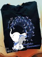 Diabetes Awareness Never Give Up Graphic Unisex T Shirt, Sweatshirt, Hoodie Size S - 5XL