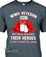 Veteran Wwii Veteran Son Graphic Unisex T Shirt, Sweatshirt, Hoodie Size S - 5XL
