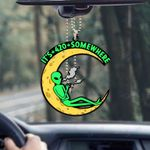 Weed alien it's 420 somewhere Car Ornament