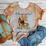 Autumn fall horse most wonderful time 3D All Over Printed Shirt, Sweatshirt, Hoodie, Bomber Jacket Size S - 5XL
