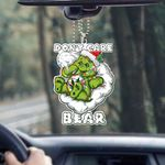 Weed christmas dont care bear Car Ornament