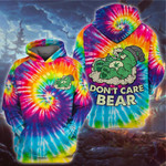 Weed dont care bear tie die 3D All Over Printed Shirt, Sweatshirt, Hoodie, Bomber Jacket Size S - 5XL