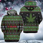 Weed christmas i'm dreaming of a green xmas Ugly sweater