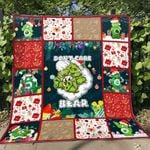 Weed don't care bear christmas Premium Quilt Blanket Size Throw, Twin, Queen, King, Super King
