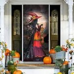 Witch halloween vinyl Door Cover