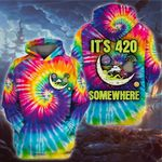 Weed alien it's 420 some where 3D All Over Printed Shirt, Sweatshirt, Hoodie, Bomber Jacket Size S - 5XL