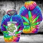 Weed dont care bear tie dye 3D All Over Printed Shirt, Sweatshirt, Hoodie, Bomber Jacket Size S - 5XL