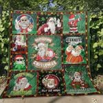 Weed santa claus merryjuana christmas Premium Quilt Blanket Size Throw, Twin, Queen, King, Super King