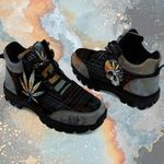 Weed Leaf Skull Native Pattern Mountain Boots