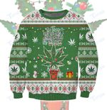 Lit This Year Weed Ugly Christmas Sweater Ugly sweater